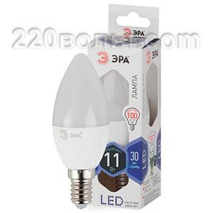 Лампа светодиодная ЭРА LED B35-11W-860-E14 (диод, свеча, 11Вт, хол, E14)