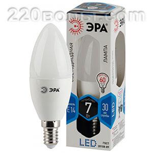 Лампа светодиодная ЭРА LED B35- 7W-840-E14 (диод, свеча, 7Вт, нейтр, E14)