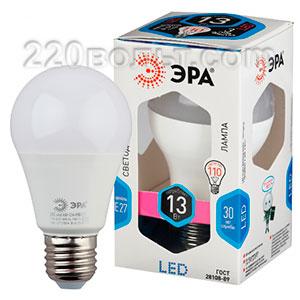 Лампа светодиодная ЭРА LED A60-13W-840-E27 (диод, груша, 13Вт, нейтр, E27)