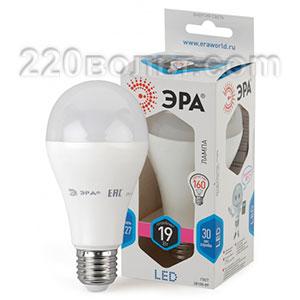 Лампа светодиодная ЭРА LED A65-19W-840-E27 (диод, груша, 19Вт, нейтр, E27)