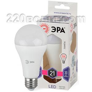 Лампа светодиодная ЭРА LED A65-21W-860-E27 (диод, груша, 21Вт, хол, E27)