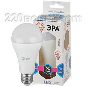 Лампа светодиодная ЭРА LED A65-25W-840-E27 (диод, груша, 25Вт, нейтр, E27)