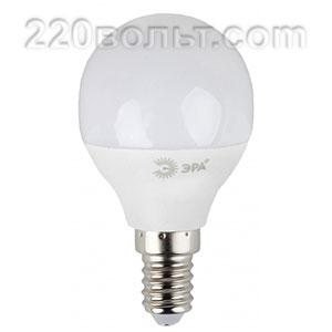 Лампа светодиодная ЭРА LED P45- 7W-860-E14 (диод, шар, 7Вт, хол, E14)