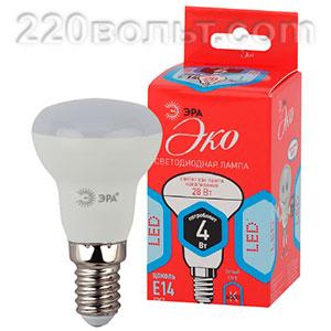 Лампа светодиодная ЭРА ECO LED R39-4W-840-E14 (диод, рефлектор, 4Вт, нейтр, E14)