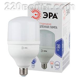 Лампа светодиодная ЭРА LED POWER T100-30W-6500-E27 (диод, колокол, 30Вт, хол, E27)