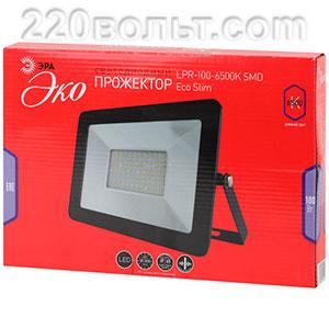 Прожектор светодиодный 100Вт 8000Лм 6500K SMD Eco Slim 238х56х321 LPR-100-6500K ЭРА