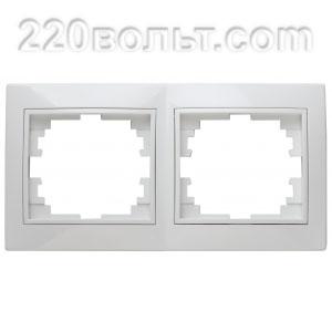 Intro Plano Рамка на 2 поста гор., СУ, белый 1-502-01