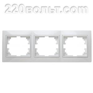 Intro Plano Рамка на 3 поста гор., СУ, белый 1-503-01