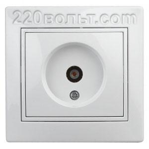Intro Plano Розетка TV одиночная, IP20, СУ, белый 1-301-01