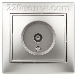 Intro Plano Розетка TV одиночная, IP20, СУ, алюминий 1-301-03