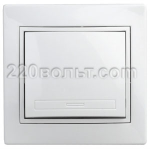 Intro Plano Выключатель 10А-250В, IP20, СУ, белый 1-101-01