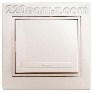 Intro Plano Выключатель 10А-250В, IP20, СУ, сл.кость 1-101-02