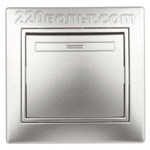 Intro Plano Выключатель 10А-250В, IP20, СУ, алюминий 1-101-03
