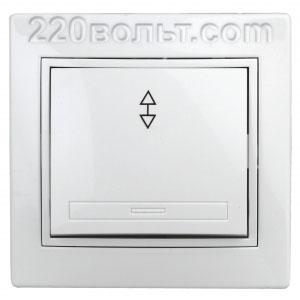 Intro Plano Переключатель 10А-250В, IP20, СУ, белый 1-103-01