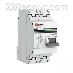 Дифференциальный автомат АД-32 1P+N 63А/300мА (хар. C, AC, электронный, защита 270В) 4,5кА EKF PROxi