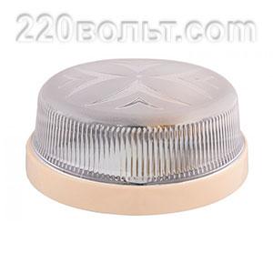 Светильник ERKA 1102-K, настенный, 26w, бежевый-прозрачный, Е27, IP20