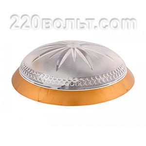 Светильник ERKA 1149-G, настенный, 2х26w, золото-прозр, Е27, IP20