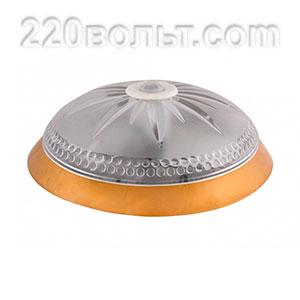 Светильник ERKA 1149D-G, настен, с дат/дв, 2х26w, золото-прозрач,