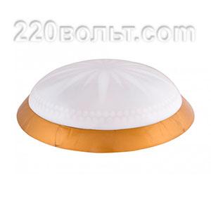 Светильник ERKA 1149-GB, настенный, 2х26w, золото-бел, Е27, IP20