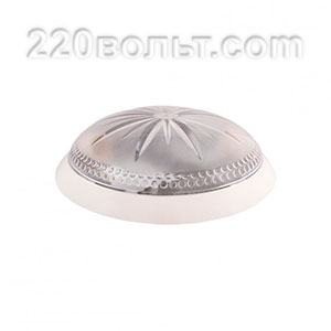 Светильник ERKA 1149, настенный, 2х26w, белый-прозрачный, Е27, IP20