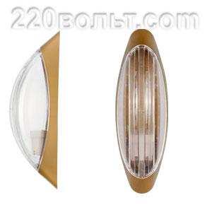 Светильник ERKA 1205-G, настенный, 26w, золото-прозр, Е27, IP20