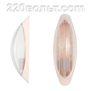 Светильник ERKA 1205-K, настенный, 26w, бежевый-прозр, Е27, IP20