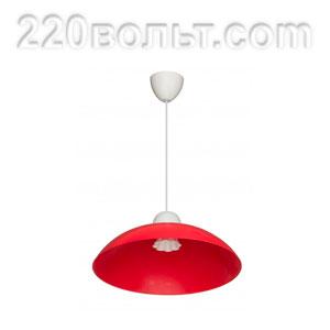 Светильник ERKA 1301, потолочный, 60w, красный, Е27