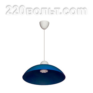 Светильник ERKA 1301, потолочный, 60w, синий, Е27