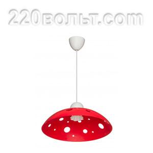 Светильник ERKA 1302, потолочный, 60w, красный, Е27