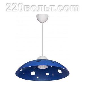 Светильник ERKA 1302, потолочный, 60w, синий, Е27