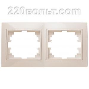 Intro Plano Рамка на 2 поста гор., СУ, сл. кость 1-502-02