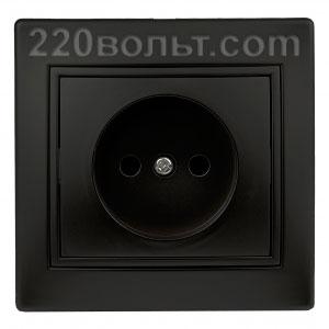Intro Plano Розетка 2P 16А-250В (керам.+ поджим), IP20, СУ, антрацит 1-201-05