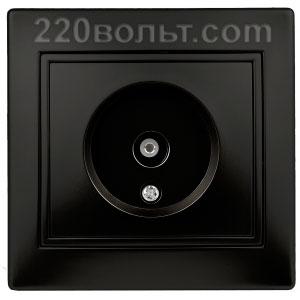 Intro Plano Розетка TV одиночная, IP20, СУ, антрацит 1-301-05