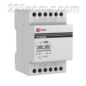 Трансформатор модульный BT-230В/12-12В 30ВА 2,5 А блок питан EKF PROxima