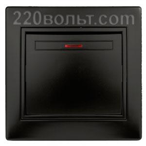 Intro Plano Выключатель с подсветкой 10А-250В, IP20, СУ, антрацит 1-102-05