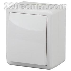 Выключатель IP54, 10АХ-250В, ОУ, Эра Эксперт, белый 11-1401-01 ЭРА герм