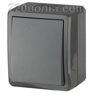 Выключатель IP54, 10АХ-250В, ОУ, Эра Эксперт, серый 11-1401-03 ЭРА герм