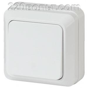 Intro Quadro Выключатель 10А-250В, IP20, ОУ, белый 2-101-01 (открытая установка)