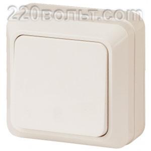 Intro Quadro Выключатель 10А-250В, IP20, ОУ, сл. кость 2-101-02 (открытая установка)