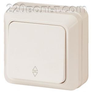Intro Quadro Переключатель 10А-250В, IP20, ОУ, сл. кость 2-103-02 (открытая установка)