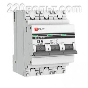 Выключатель нагрузки ВН-63, 3P 63А EKF PROxima