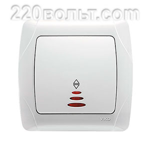 Выключатель проходной с подсветкой Саrmen Viko