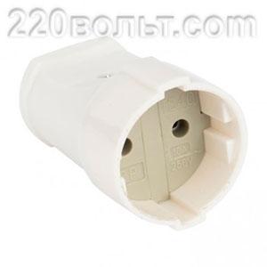 Штепсельное гнездо без заземления белое 10А 250В Simple