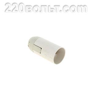 Патрон Е14 пластиковый подвесной, термостойкий пластик, белый, EKF PROxima