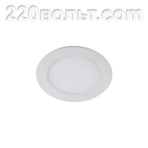 Светильник LED 1- 6 круглый врезной 6W 220V 6500K ЭРА