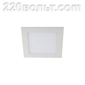Светильник LED 2- 6 квадратный врезной 6W 220V 6500K ЭРА