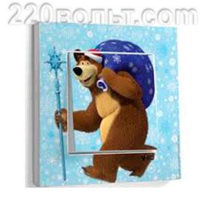 """Выключатель """"Медведь с подарками"""" Karre Viko"""