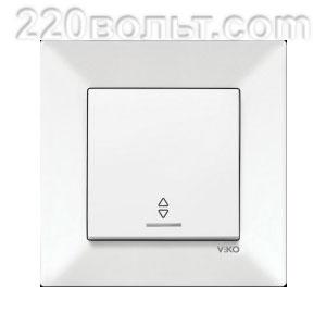 Выключатель проходной с подсветкой Meridian Viko
