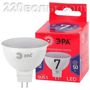 Лампа светодиодная ЭРА ECO LED MR16- 7W-865-GU5.3 R (диод, софит, 7Вт, хол, GU5.3)