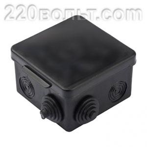 Коробка распаячная ЧЕРНАЯ 7 входов IP54 EKF PROxima
